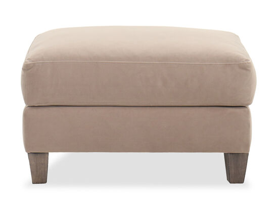 Casual Rectangle Ottoman in Brown