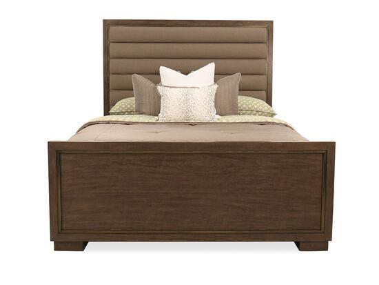 "72"" Modern King Panel Bed in Dark Brown"
