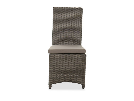 Contemporary Patio Armless Dining Chair in Dark Gray