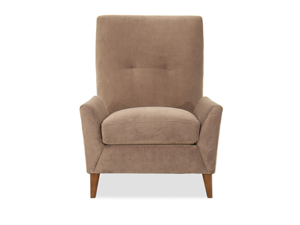 Wing Back Casual 35 Quot Accent Chair In Brown Mathis