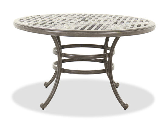Casual Round Dining Table in Gray