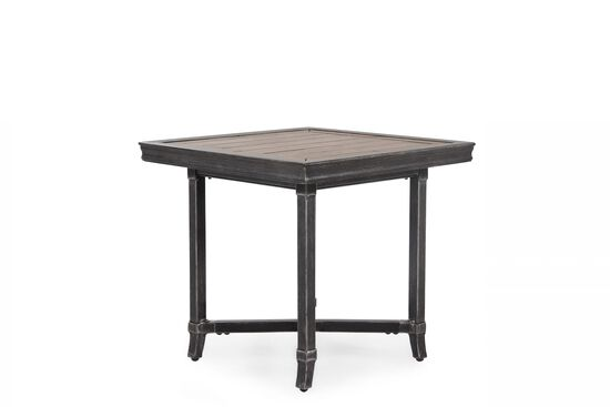 X-Stretcher Aluminum End Tablein Light Black