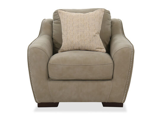Casual Nailhead-Accented Chair in Brown