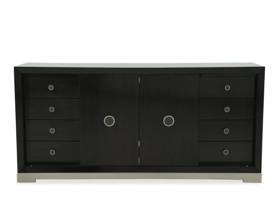 "67"" Eight Drawer Rectangular Buffet in Smoked Peppercorn"