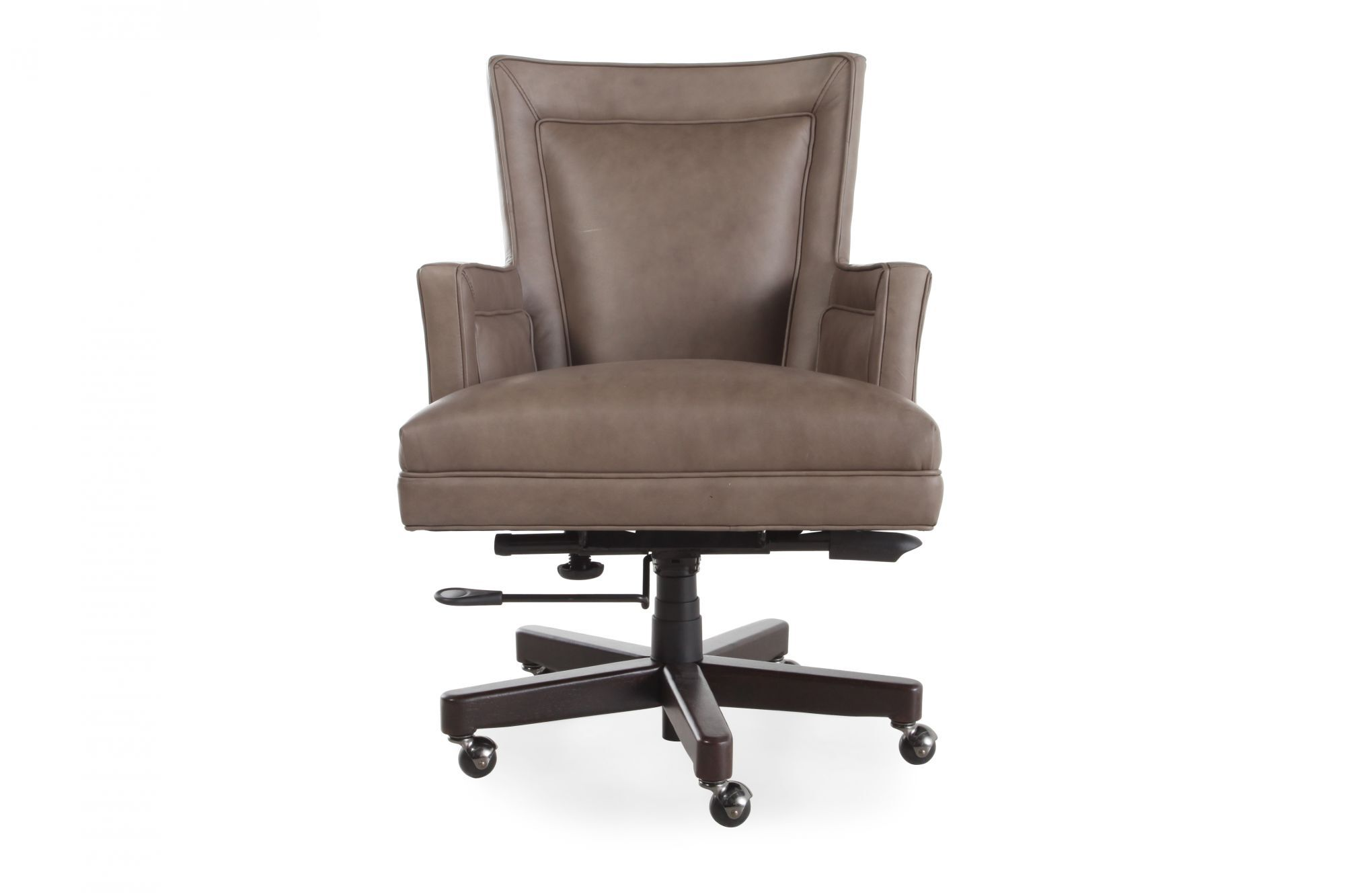 Leather Desk Chairu0026nbspin Medium Brown Brown Leather Desk Chair6