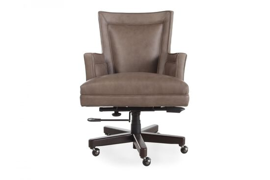 Leather Desk Chair in Medium Brown