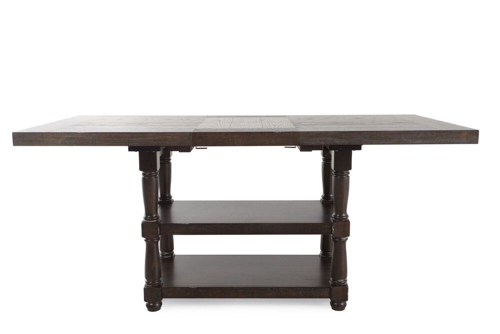 """Traditional 60"""" to 78"""" Tall Dining Table in Dark Espresso"""