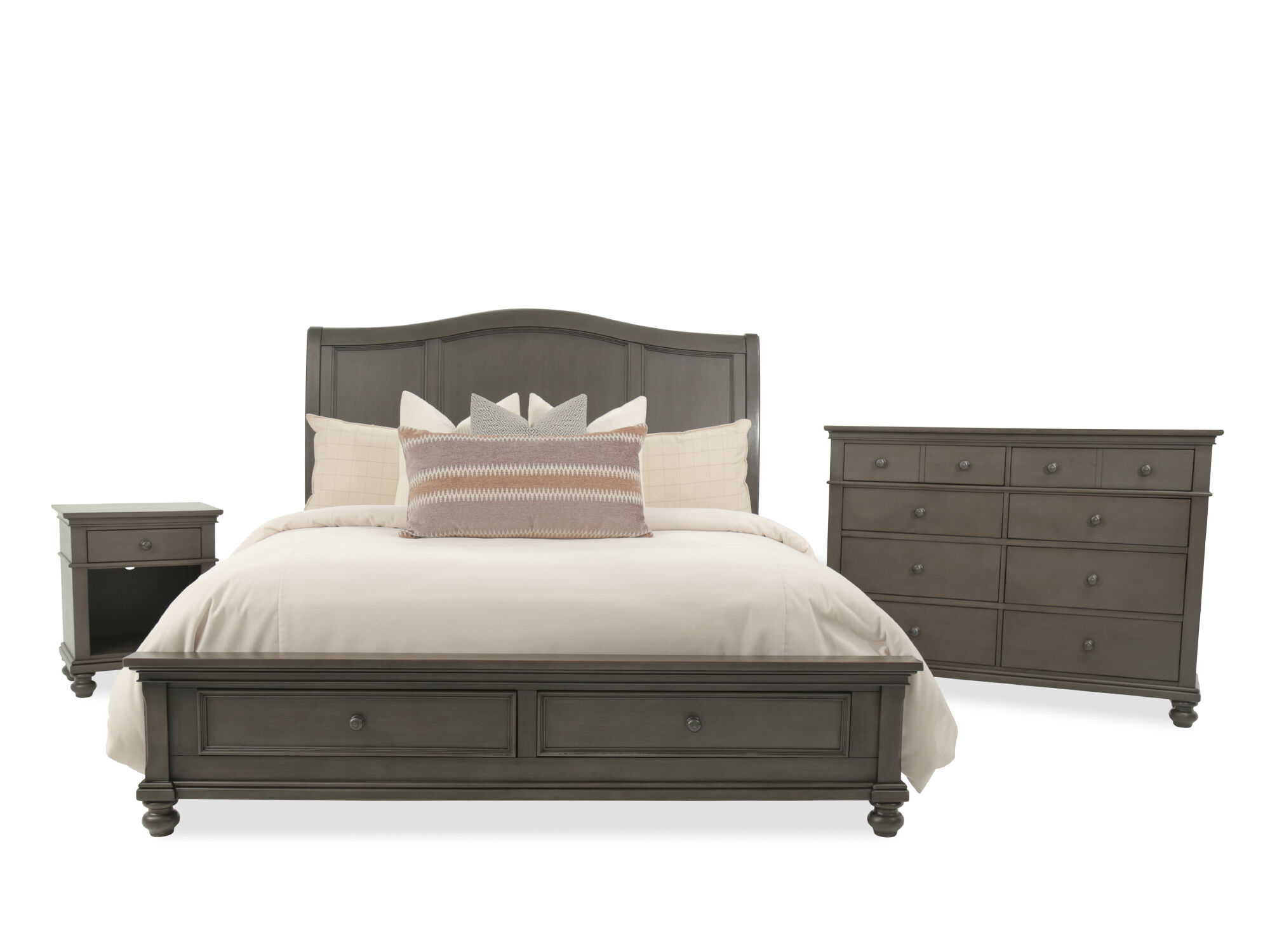 Three-Piece Transitional Storage Bedroom Set in Peppercorn | Mathis on colonial bedroom decorating ideas, spring bedroom decorating ideas, country bedroom decorating ideas, leather bedroom decorating ideas, traditional bedroom decorating ideas, contemporary bedroom decorating ideas, asian bedroom decorating ideas, bungalow bedroom decorating ideas, antique bedroom decorating ideas, tuscan bedroom decorating ideas, southwest bedroom decorating ideas, arts and crafts bedroom decorating ideas, classic bedroom decorating ideas, french country decorating ideas, black bedroom decorating ideas, elegant bedroom decorating ideas, crystal bedroom decorating ideas, industrial bedroom decorating ideas, master bedroom decorating ideas, beach bedroom decorating ideas,