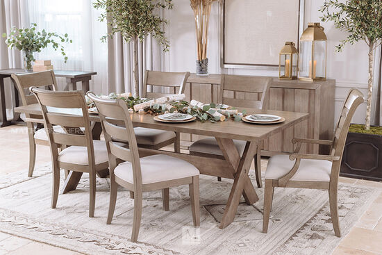Rectangular Rustic Farm House Sofa Table in Dark Grey