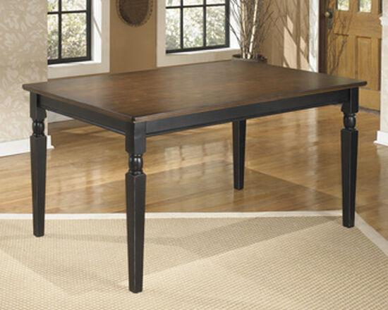 """Casual 60"""" Rectangular Dining Table in Medium Black"""