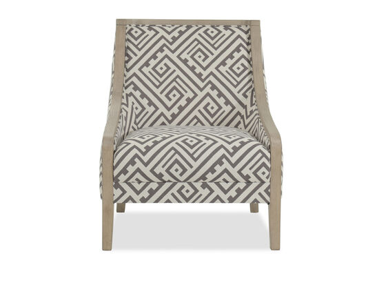 "Geometric Patterned Contemporary 28"" Accent Chair"