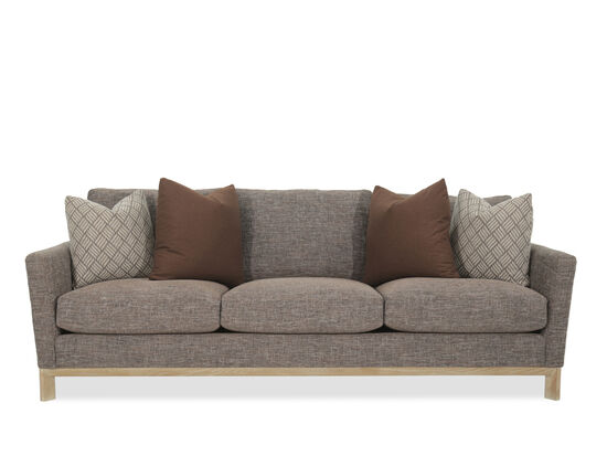"Contemporary 95"" Sofa in Light Brown"