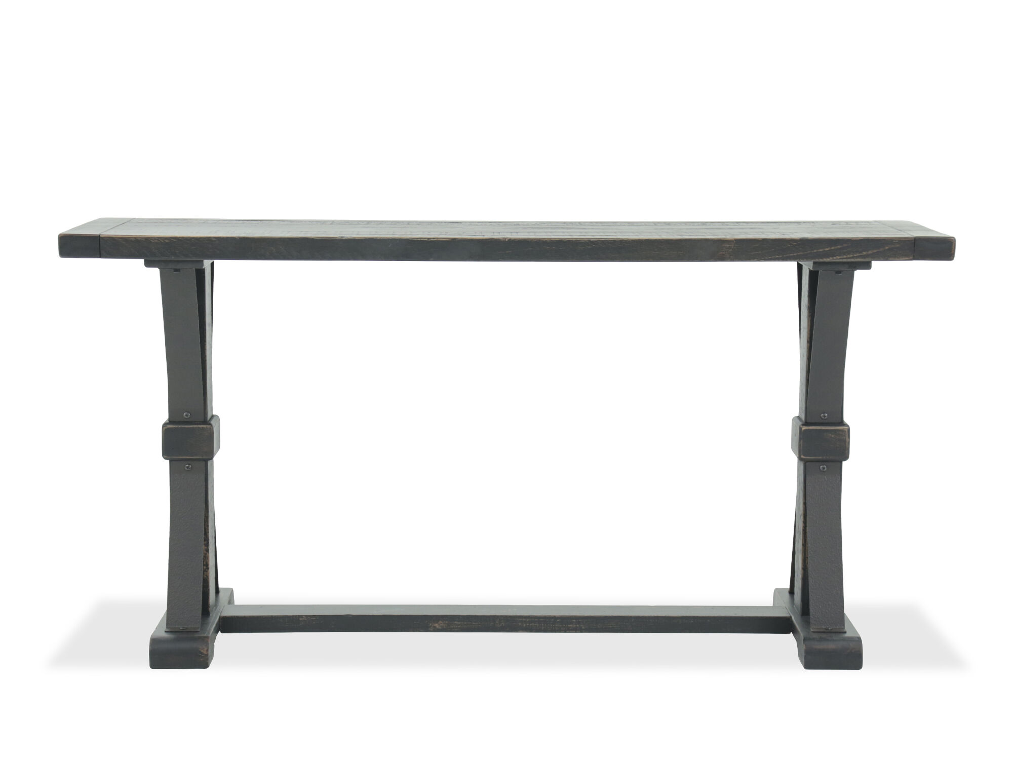 X Braced Casual Sofa Table In Black
