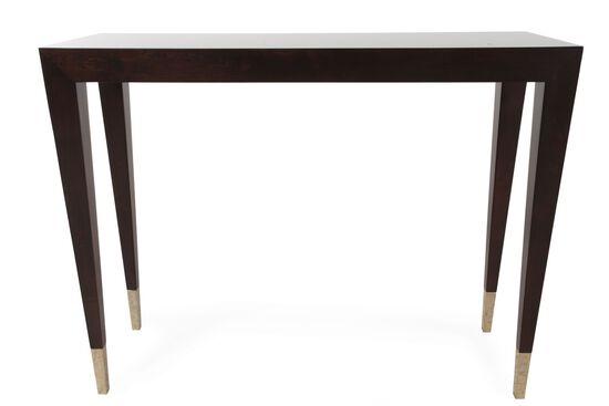 Mitered Legs Contemporary Console Table in Espresso Bean