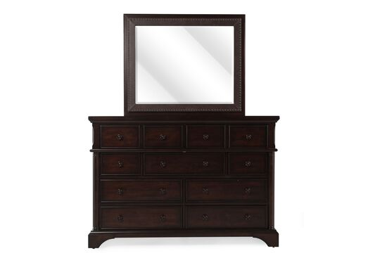Two-Piece Contemporary Chesser and Mirror in Brown