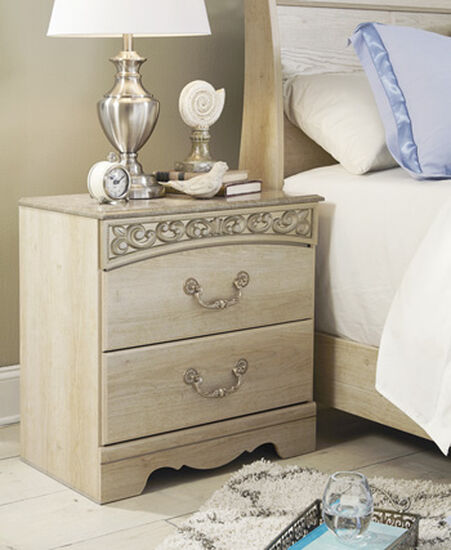 "26"" Traditonal Two-Drawer Nightstand in Antique White"