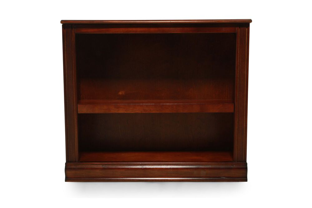 Traditional Small Open Bookcase in Medium Brown