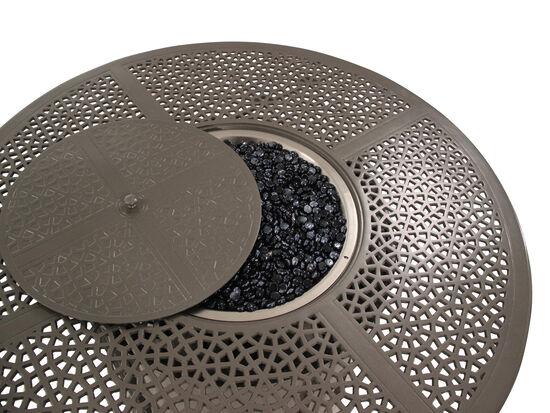 Circular Cast Aluminium Fire Pit Table in Brown