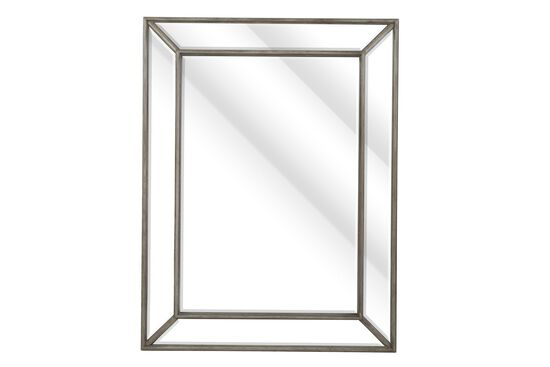 "33.5"" Non-Beveled Accent Mirror in Gray"