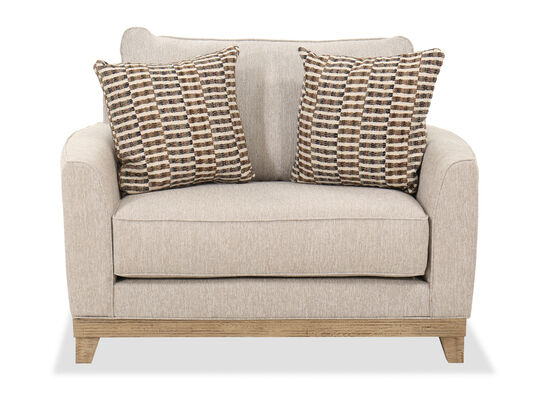 Casual Flared Arm Chair in Beige