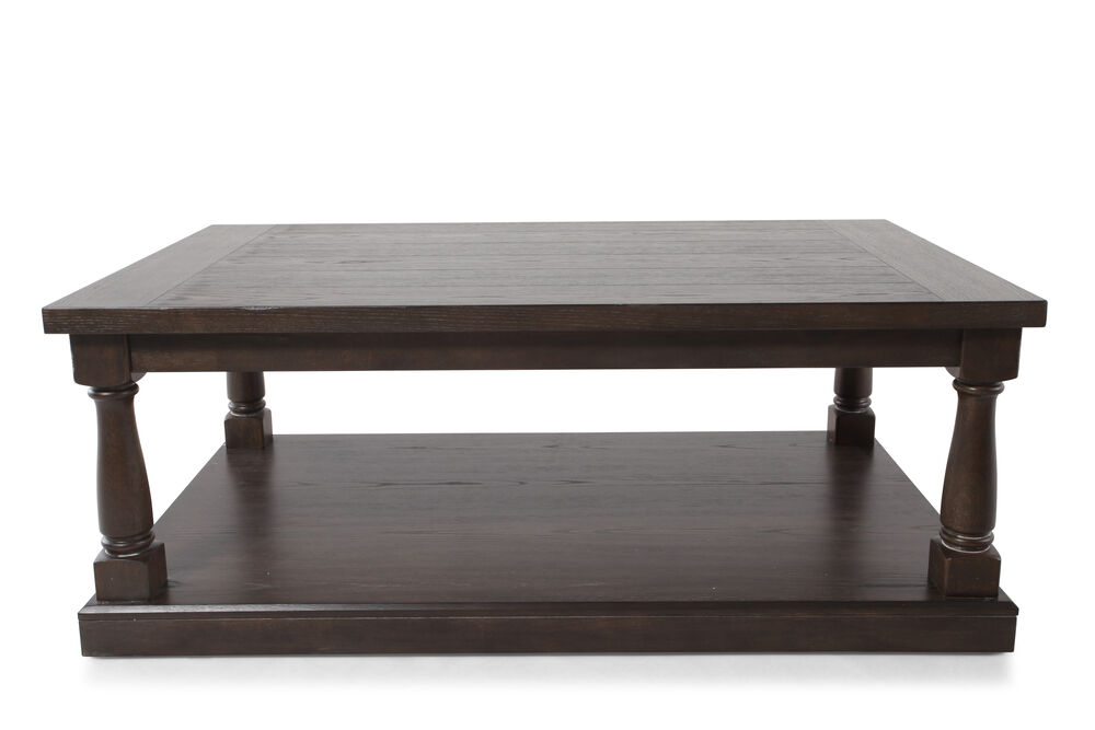 Rectangular Contemporary Coffee Table In Dark Espresso Mathis Brothers Furniture