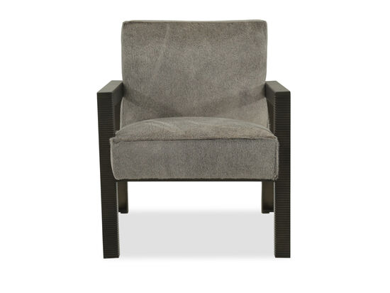 "Fluted Leg Contemporary 29"" Accent Chair in Gray"