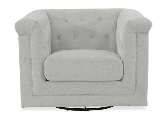 Tufted Modern Swivel Chair in Beige