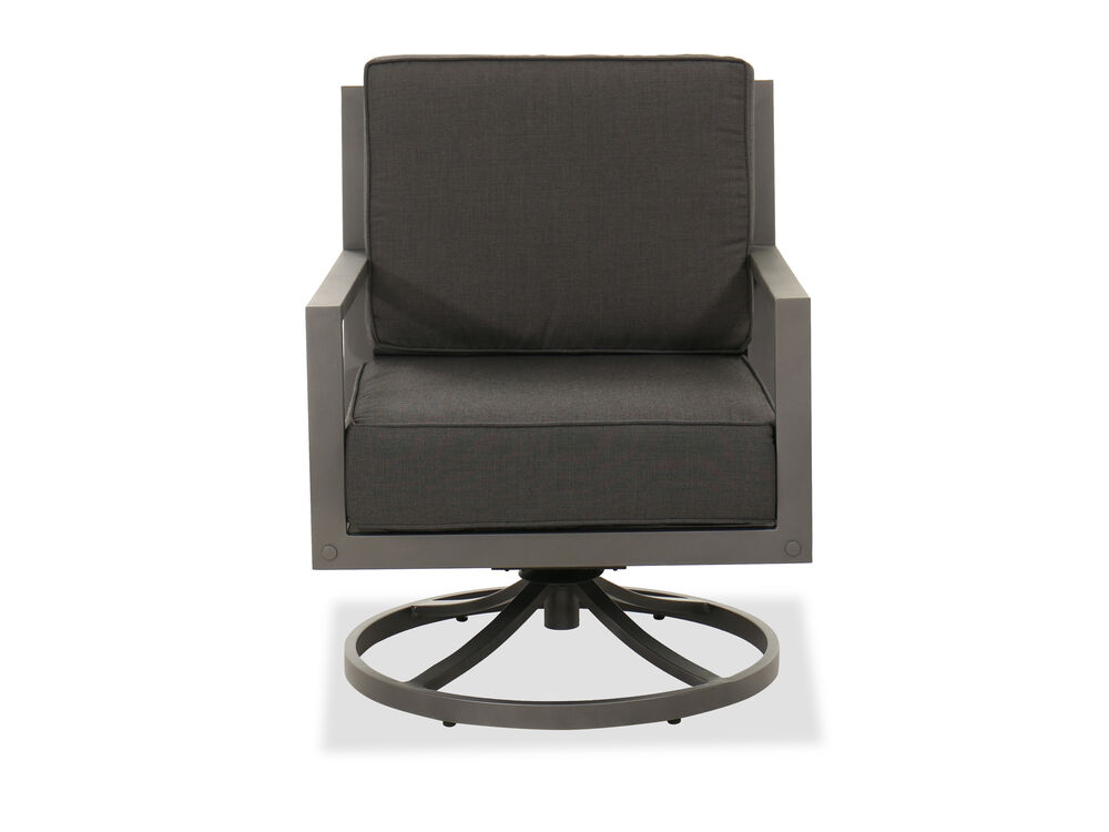 Aluminum Swivel Club Chair in Gray