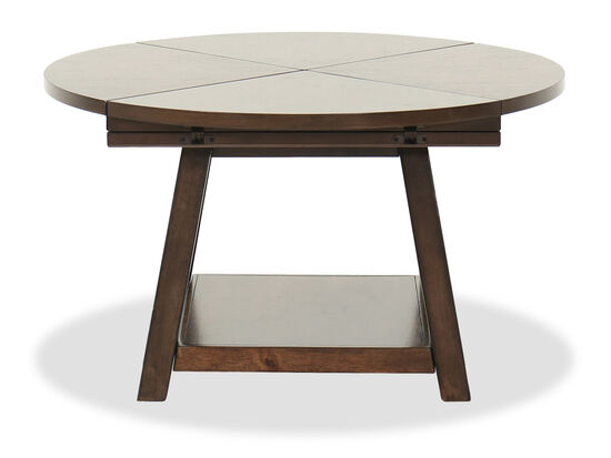 Flip-Top Contemporary Cocktail Table in Brown Cherry