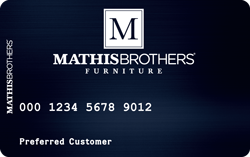 mathis brothers credit card