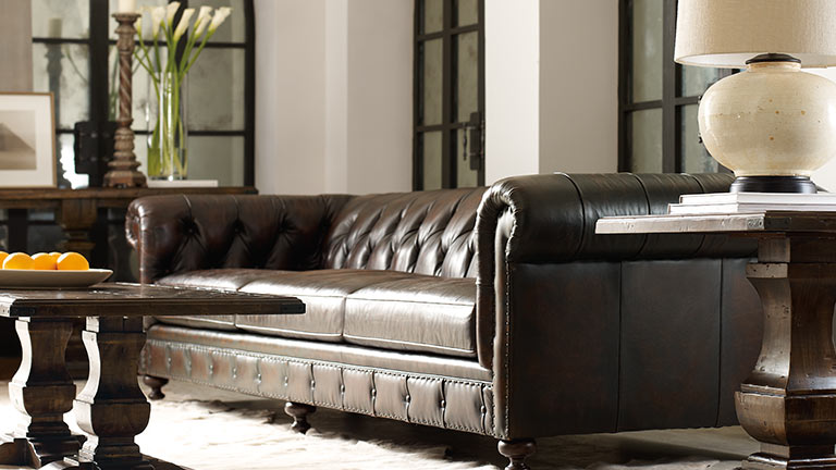 stun your friends with this sumptuous leather from bernhardt!