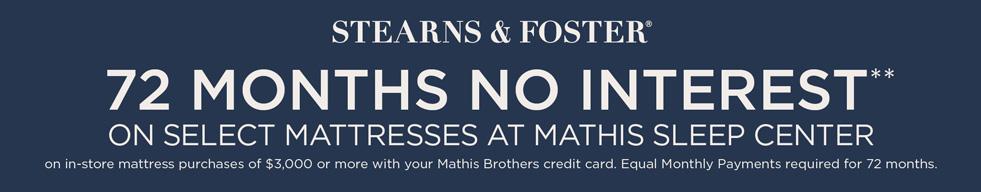 Stearns & Foster 72 Mo. Synchrony Finance