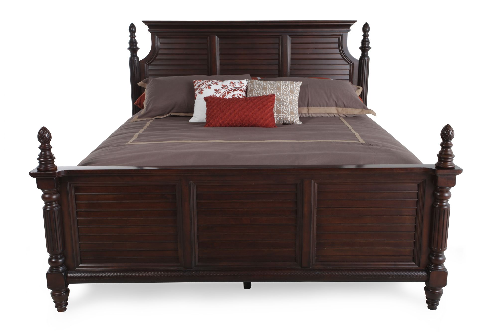 Ashley key town california king panel bed mathis brothers furniture for Ashley furniture key town bedroom set