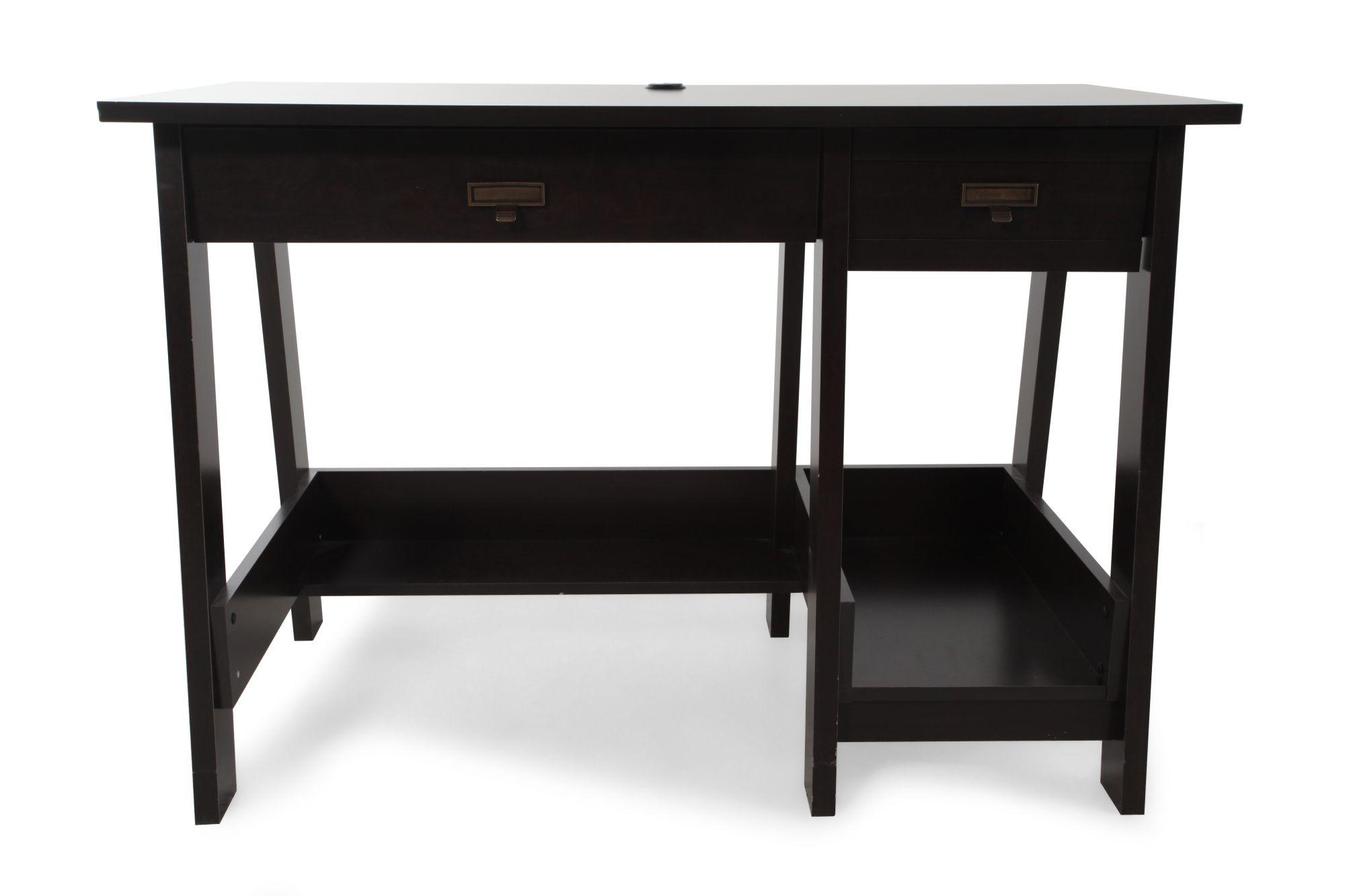 Sauder Select Jamocha Console Desk Mathis Brothers Furniture