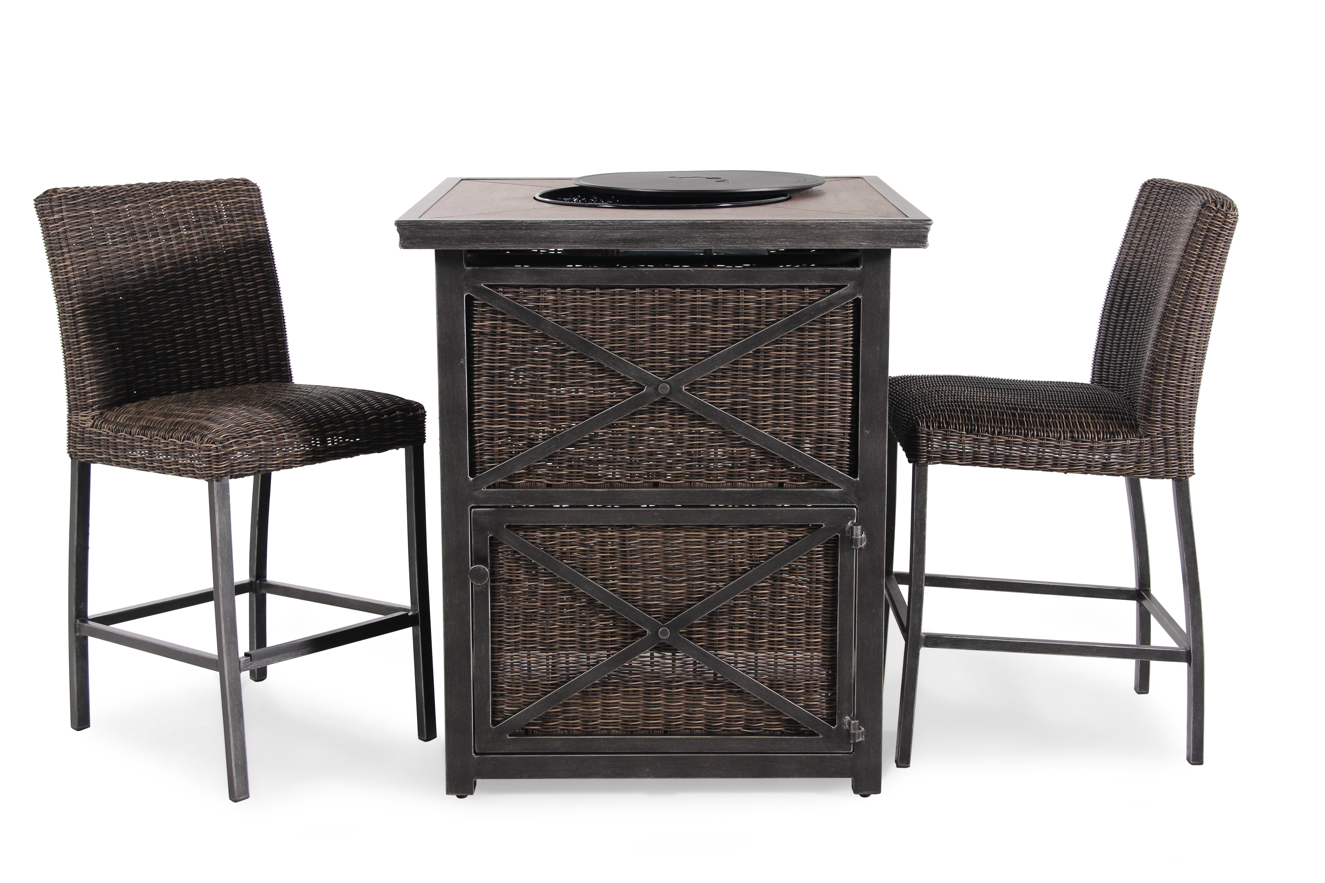 "Agio Franklin 36"" Square Bar Fire Pit"