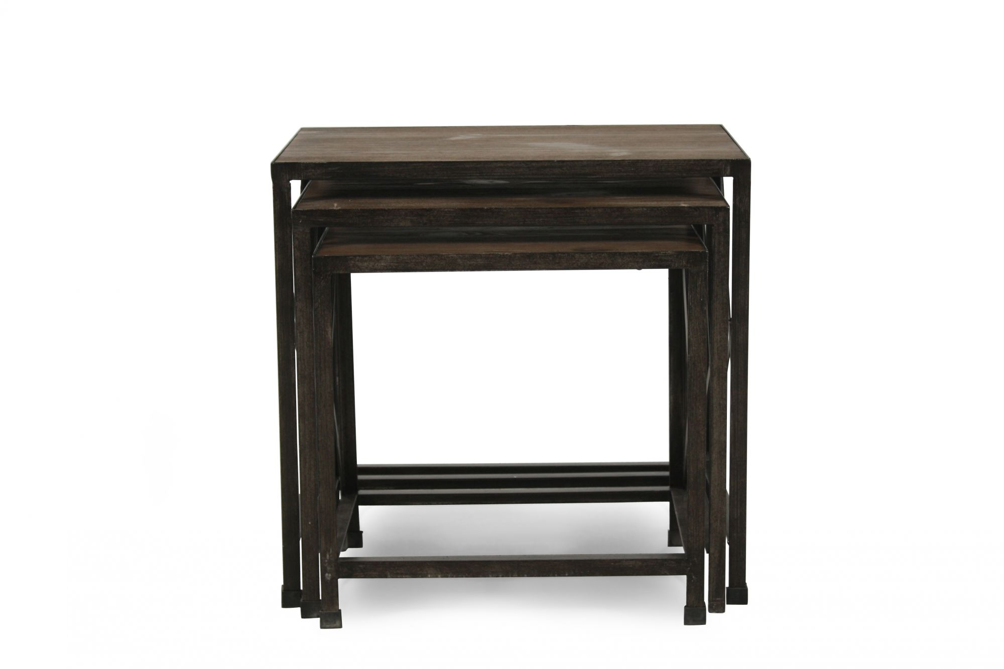 Ashley Distressed Pine Nesting End Tables Mathis Brothers Furniture
