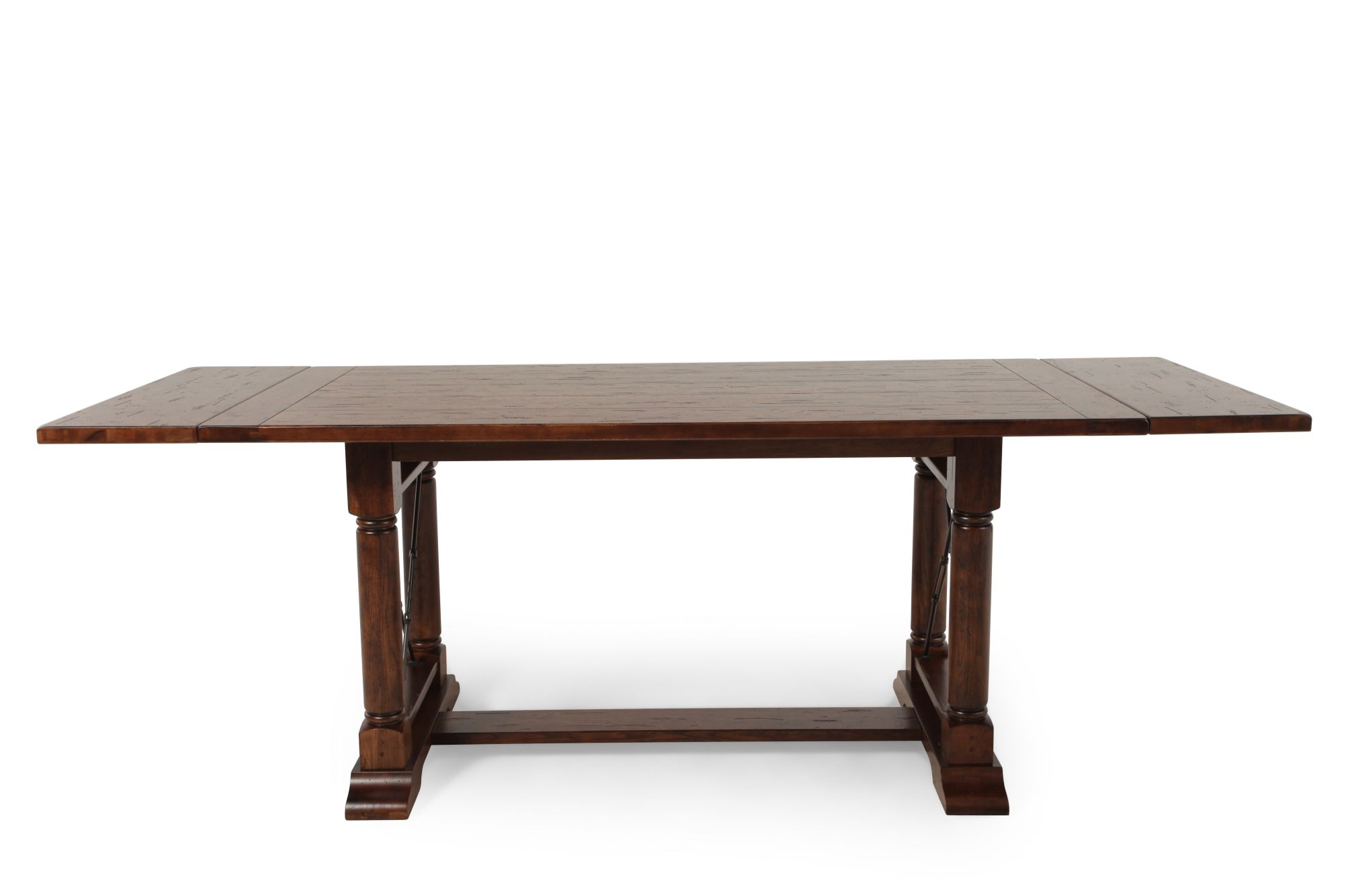 Broyhill Attic Heirlooms Rustic Oak Counter Height Table Mathis Brothers Fu