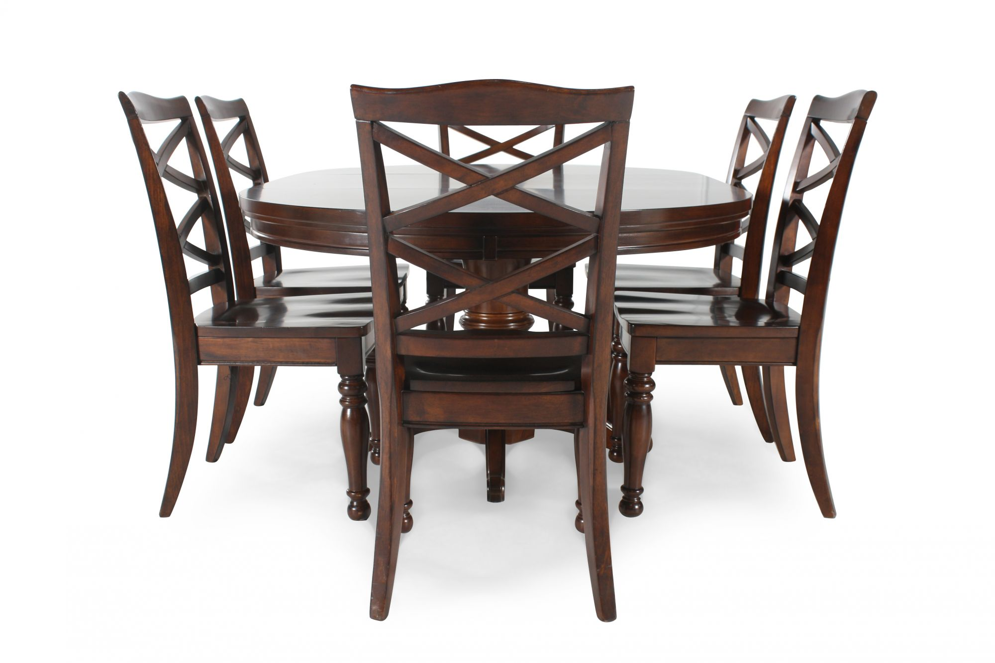 Ashley porter five piece round dining set mathis for 2 piece dining room set
