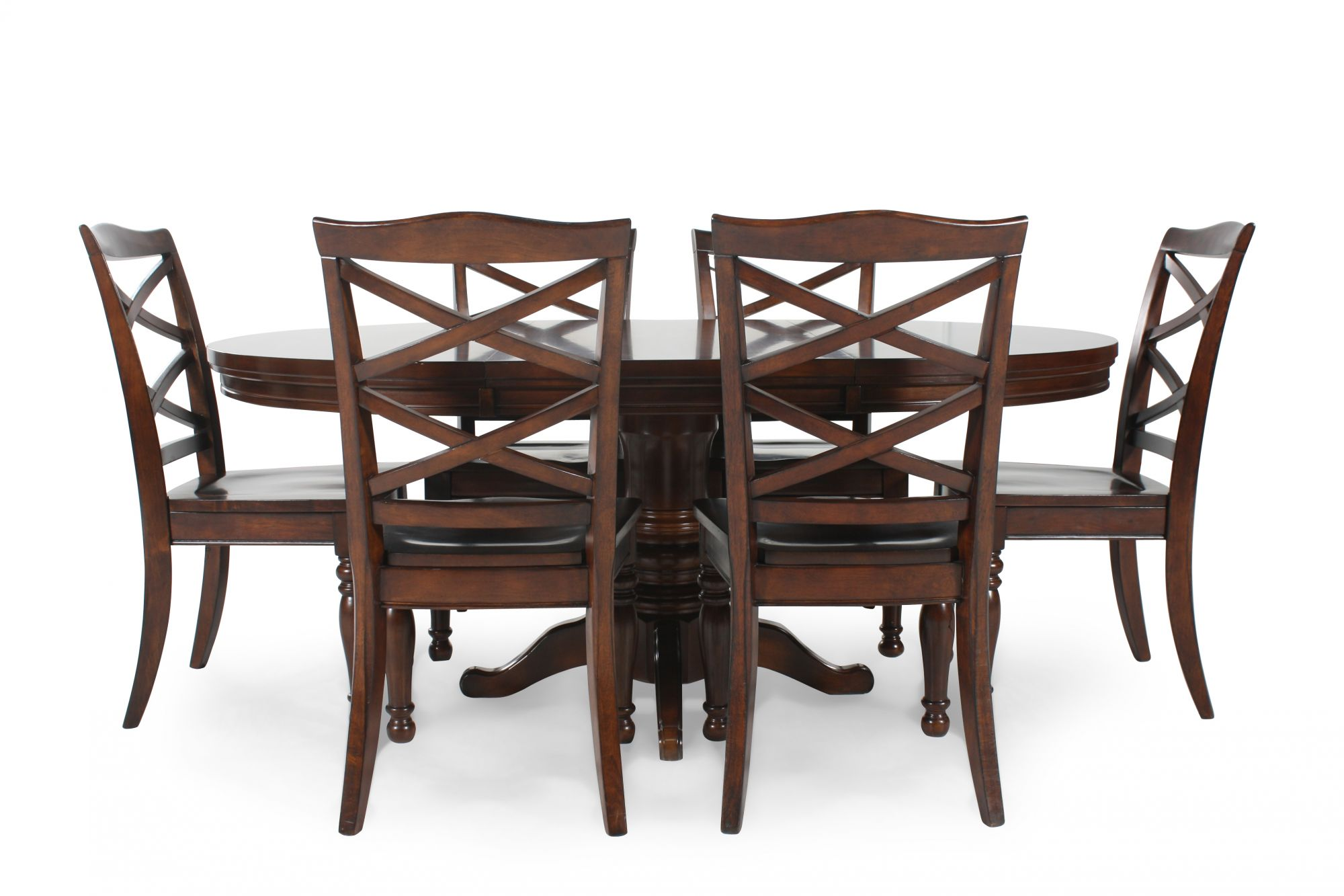 Ashley porter five piece round dining set mathis for Round dining room sets
