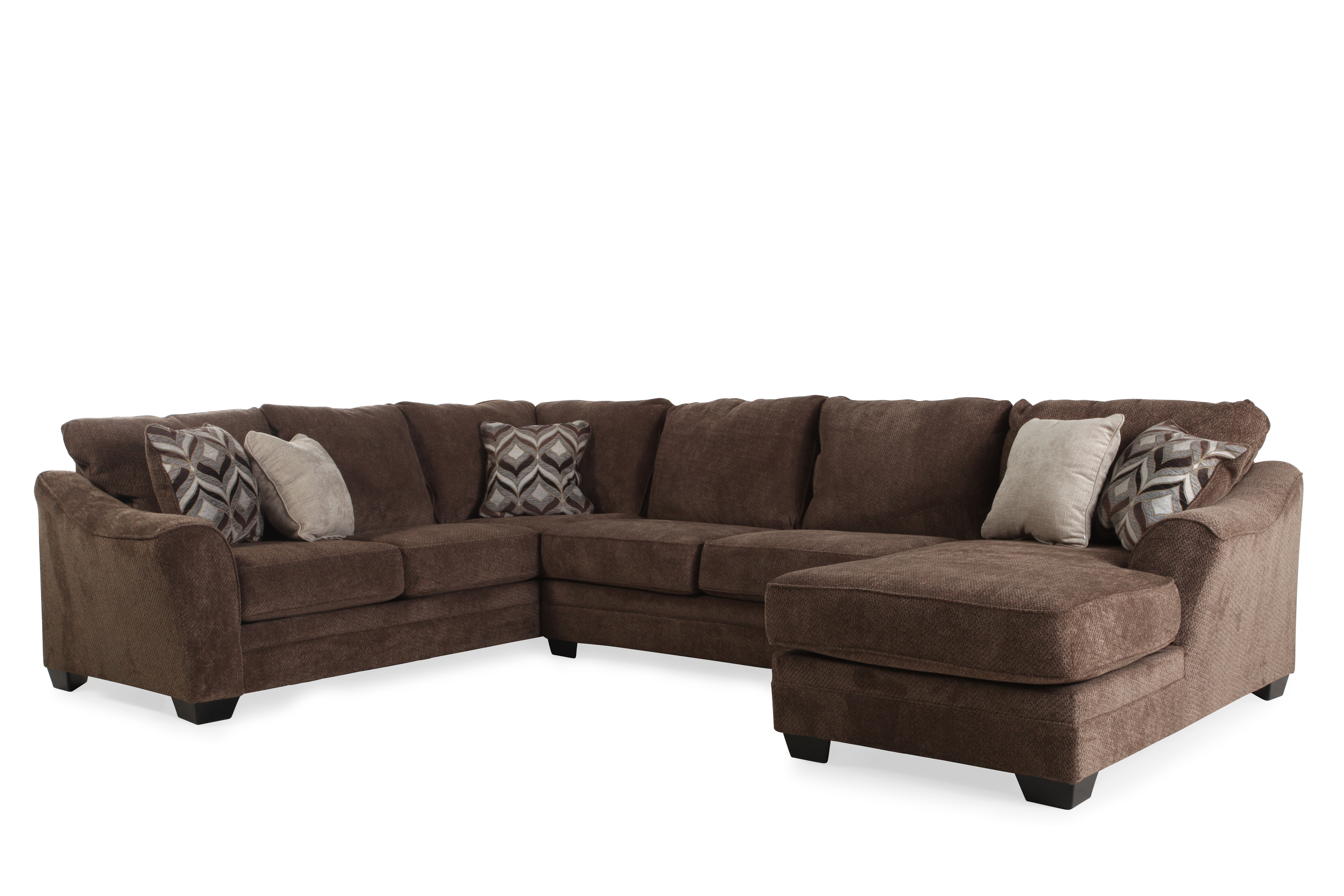 Ashley 3 piece sectional mathis brothers furniture for Sectional sofas mathis brothers