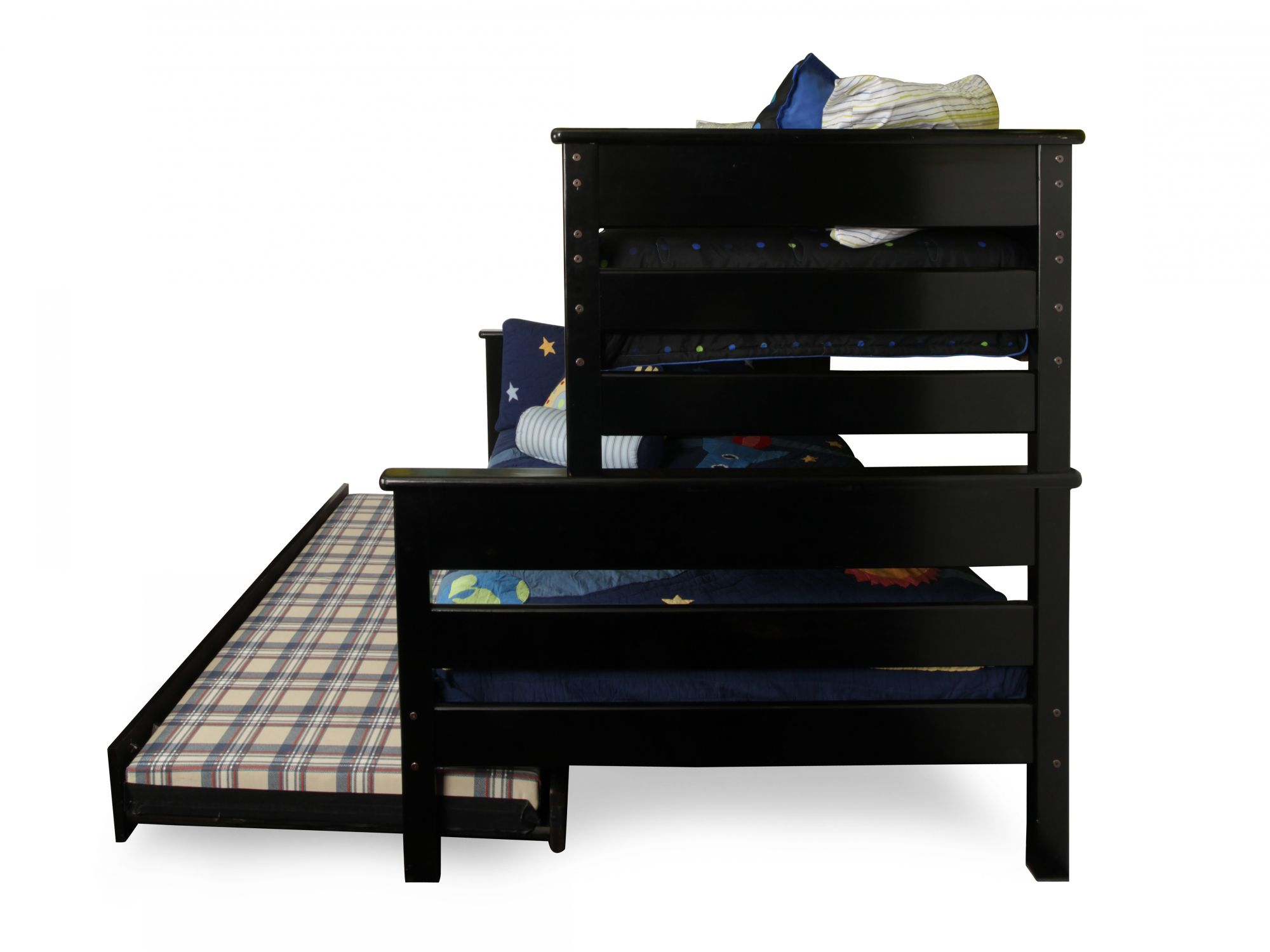 Trendwood Laguna Black Cherry Twin Over Full Bunk Bed With