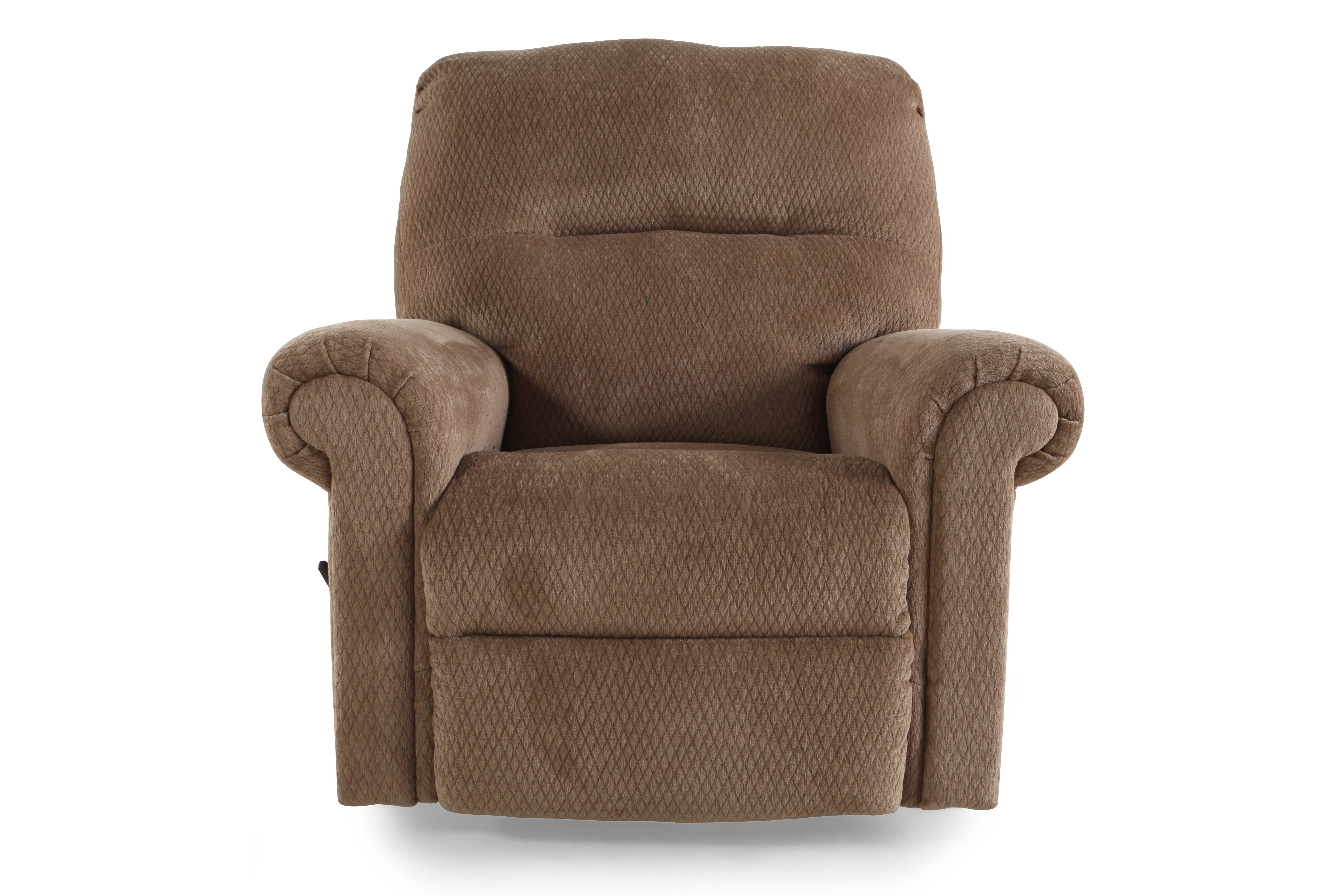 Ashley skyeslee mocha rocker recliner mathis brothers for Chair recliner