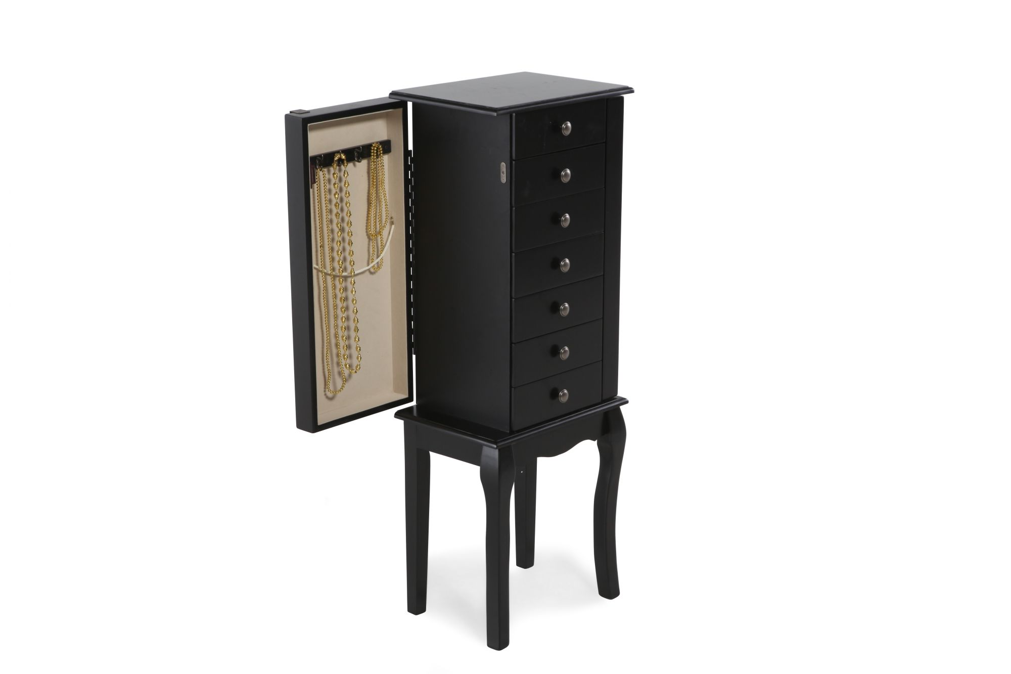 discount jewelry armoire black jewelry armoire mathis brothers furniture. Black Bedroom Furniture Sets. Home Design Ideas