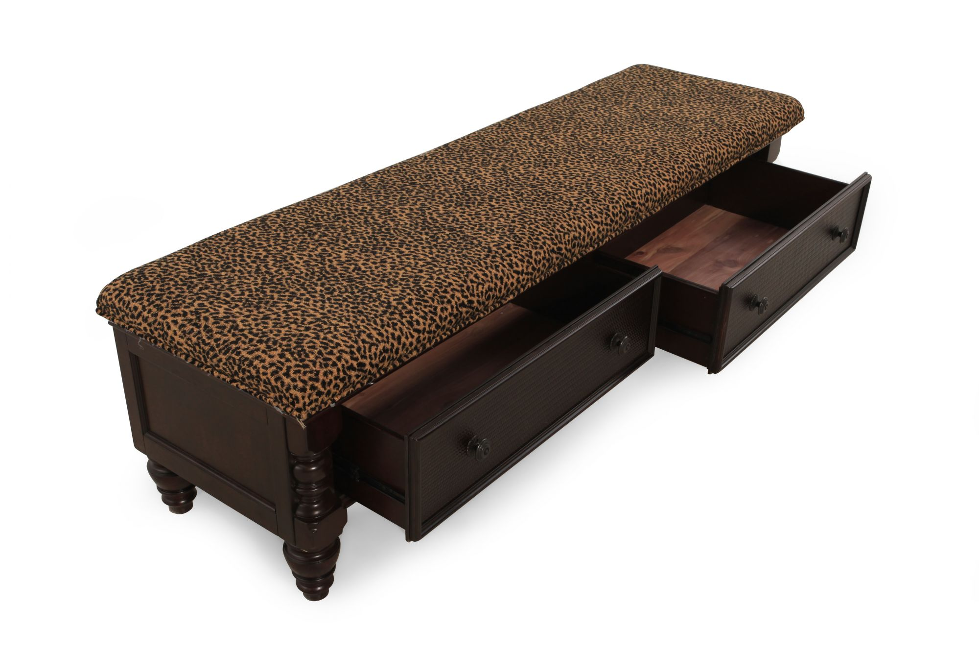 Image gallery leopard bed bench Leopard print bench